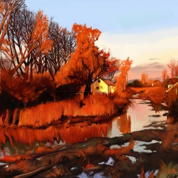 Finn Slough at Sunset. Late Fall.