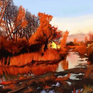 Finn Slough at Sunset. Late Fall.