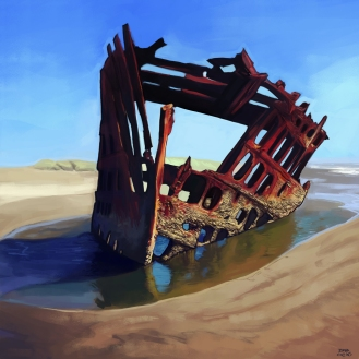 The Wreck of the Peter Iredale