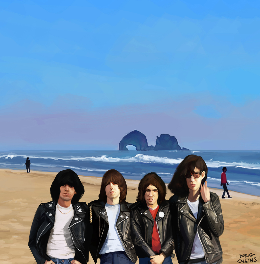 """""""It's not far, not hard to reach. We can hitch a ride to Rockaway Beach""""."""