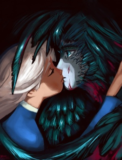 Howl and Sophie from Howl's Moving Castle.