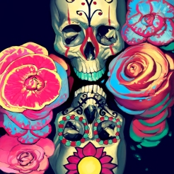 A dream of skulls and flowers.
