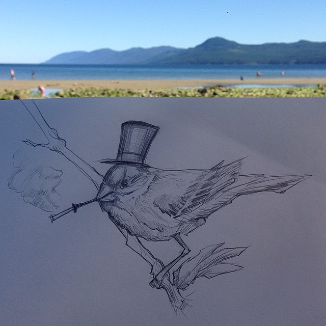 Birds can also be fancy gentlemen.
